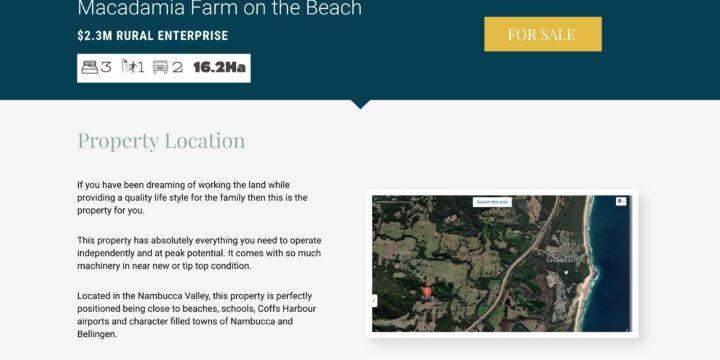 Macadamia Farm For Sale